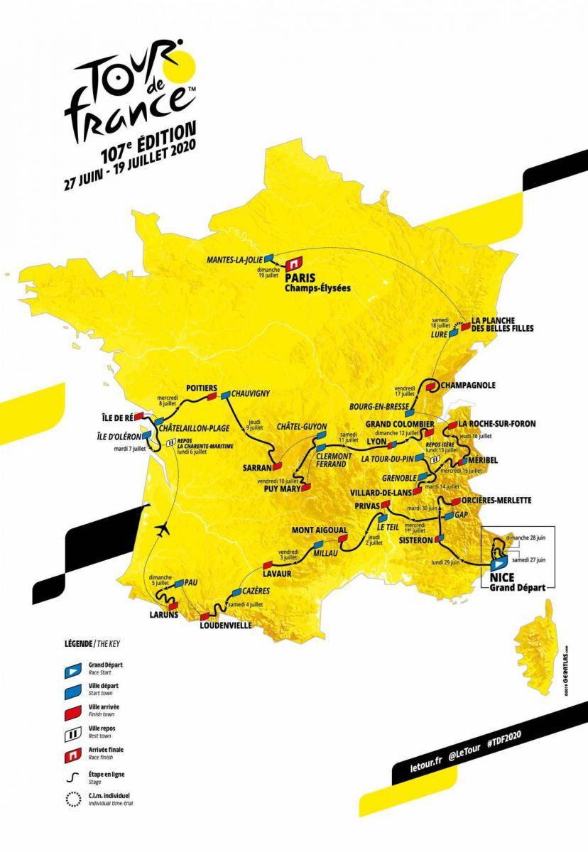 Calendrier Ffc Haut De France 2020.Cyclisme Tour De France 2020